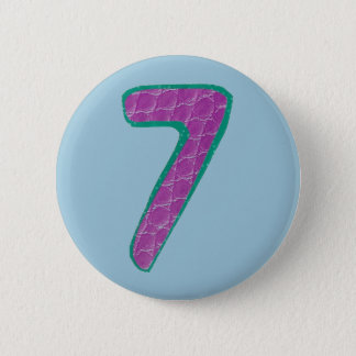 第7ボタン 5.7CM 丸型バッジ