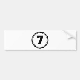 第7円 バンパーステッカー