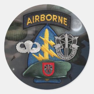 第7特殊部隊の緑色のベレー帽のグループのnamのステッカー ラウンドシール