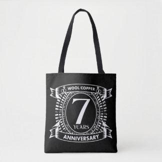 第7結婚記念日のウールの銅 トートバッグ