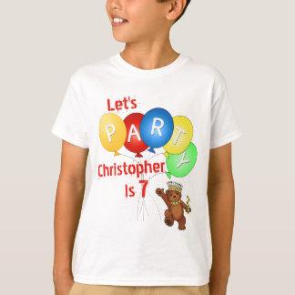 第7誕生日くまの王子をパーティを楽しもう Tシャツ