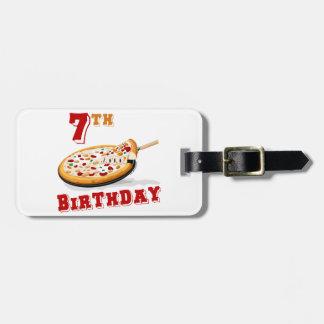 第7誕生日ピザパーティー ラゲッジタグ
