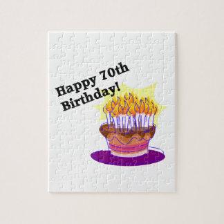 第70お誕生日ケーキ ジグソーパズル