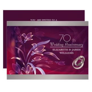 第70結婚記念日のパーティの招待状 カード
