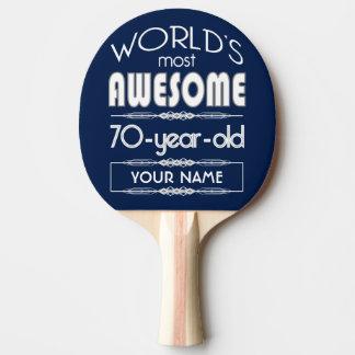 第70誕生日の世界の最も最高のですばらしい濃紺 卓球ラケット