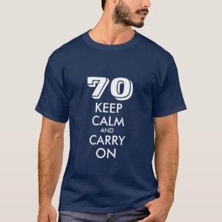第70誕生日のTシャツ男性への|は穏やかなユーモアを保ちます Tシャツ