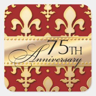 第75のゴールド・トーンの結婚記念日、(紋章の)フラ・ダ・リ スクエアシール