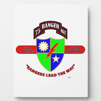 """第75レーンジャーの大隊""""軍隊レーンジャー"""" フォトプラーク"""