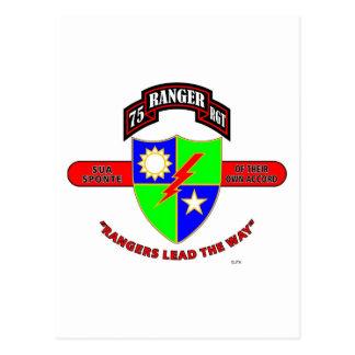 """第75レーンジャーの大隊""""軍隊レーンジャー"""" ポストカード"""