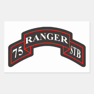 第75レーンジャー連隊の特別な軍隊の大隊 長方形シール