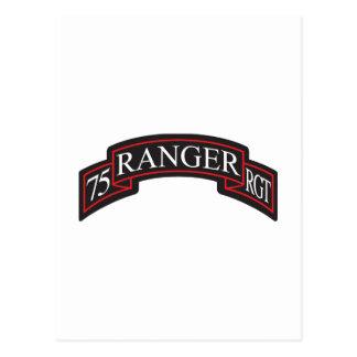 第75レーンジャー連隊スクロール ポストカード