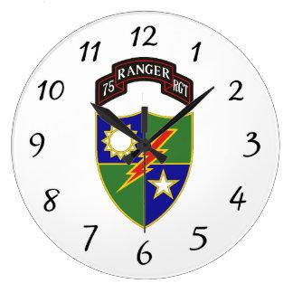 第75レーンジャー連隊-柱時計 ラージ壁時計