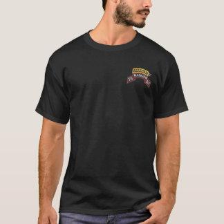 第75レーンジャー連隊SSI + レーンジャータブのTシャツ Tシャツ