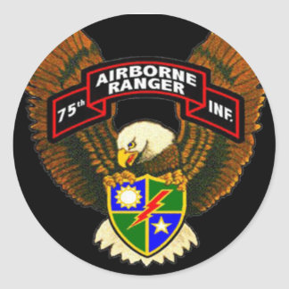 第75歩兵のレーンジャー連隊のバンパーステッカー ラウンドシール