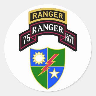 第75歩兵のレーンジャー連隊スクロール ラウンドシール