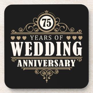 第75結婚記念日 ドリンクコースター