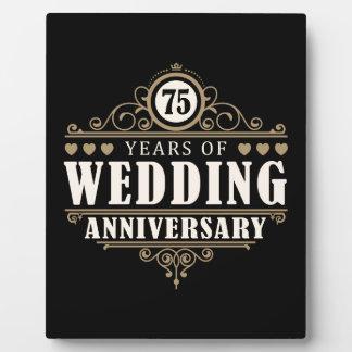第75結婚記念日 フォトプラーク