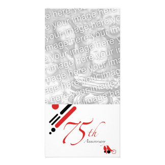 第75記念日(モダンな鳥) カード
