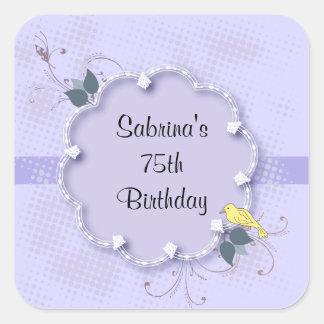 第75誕生会  DIYの文字 スクエアシール