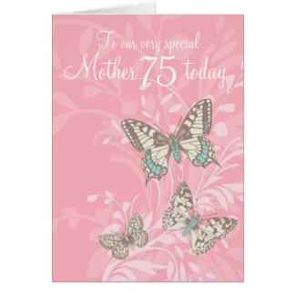 第75誕生日の蝶カードを生み出して下さい カード