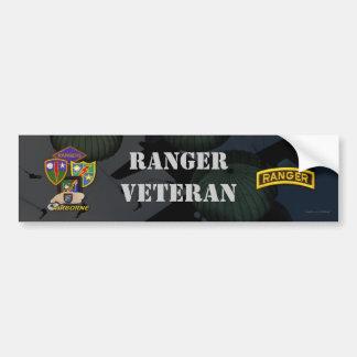 第75軍隊の空輸のレーンジャーの退役軍人のバンパーステッカー バンパーステッカー