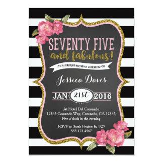 第75驚きの昼食会の誕生日のパーティの招待状 カード