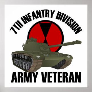 第7 M-48タンクとのID ポスター