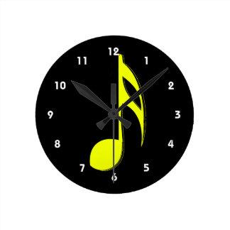 第8ノート黄色いblack.png ラウンド壁時計