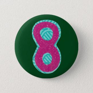第8ボタン 5.7CM 丸型バッジ
