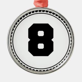 第8円 メタルオーナメント