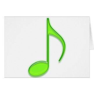 第8大きいガラスライムグリーンの音符に注意して下さい カード