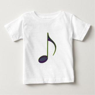 第8大きい紫色に注意して下さい ベビーTシャツ