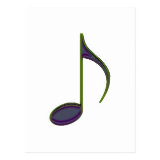第8大きい紫色に注意して下さい ポストカード