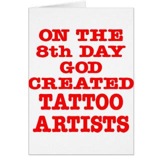 第8日で神は入れ墨の芸術家を作成しました カード