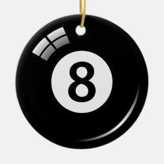第8玉突の玉のオーナメント-倍は味方しました セラミックオーナメント