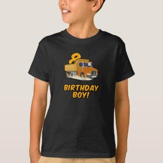 第8誕生日のダンプトラックのTシャツ-男の子Bday Tシャツ