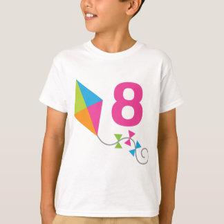第8誕生日凧のデザインのギフト Tシャツ