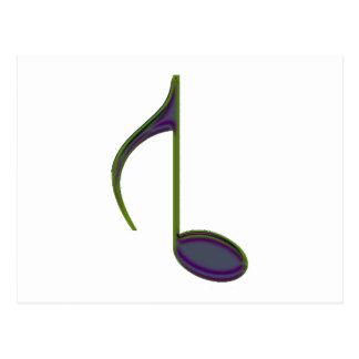 第8逆にされた大きい紫色の緑2010年に注意して下さい ポストカード