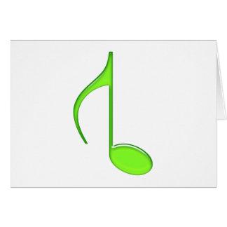第8音楽ノートによって回されるグランデ緑2010年 カード