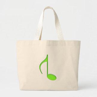第8音楽ノートflipedグランデ緑2010年 ラージトートバッグ