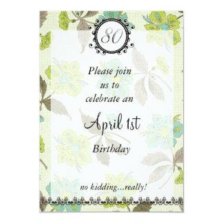 第80エイプリルフールの誕生日: 招待状