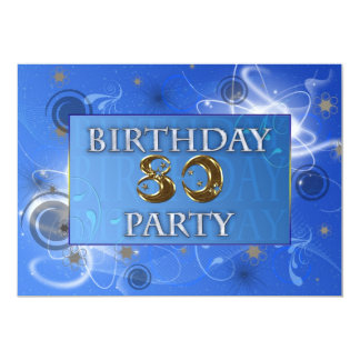 第80宇宙パーティの招待状 カード