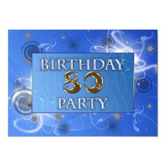 第80宇宙パーティの招待状 12.7 X 17.8 インビテーションカード