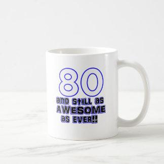 第80誕生日のデザイン コーヒーマグカップ