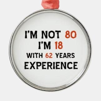 第80誕生日のデザイン メタルオーナメント