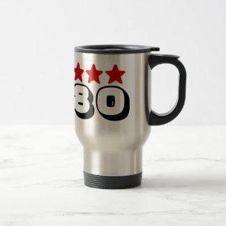第80誕生日の星赤い白黒Z508 トラベルマグ