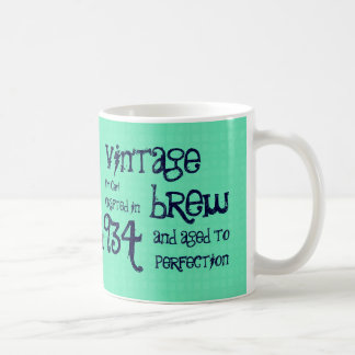 第80誕生日の1934年のヴィンテージの醸造物か年V80C コーヒーマグカップ