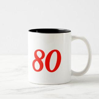 第80誕生日プレゼントを冷却して下さい ツートーンマグカップ