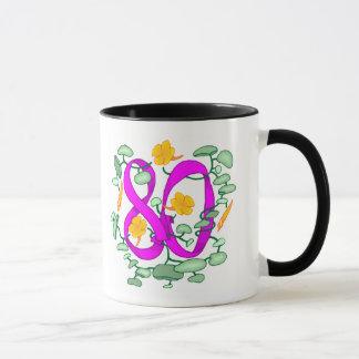 第80誕生日プレゼントを開花して下さい マグカップ
