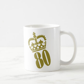 第80誕生日-数- 80 コーヒーマグカップ
